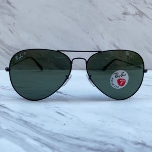 😎 Ray-Ban Aviator Large RB3026 Black POLARIZED